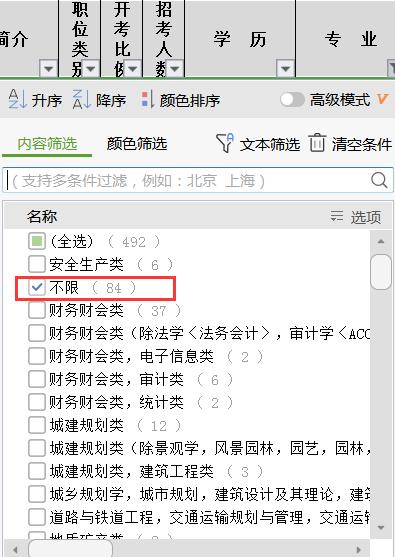 2021年江苏公务员考试有不限专业的职位吗